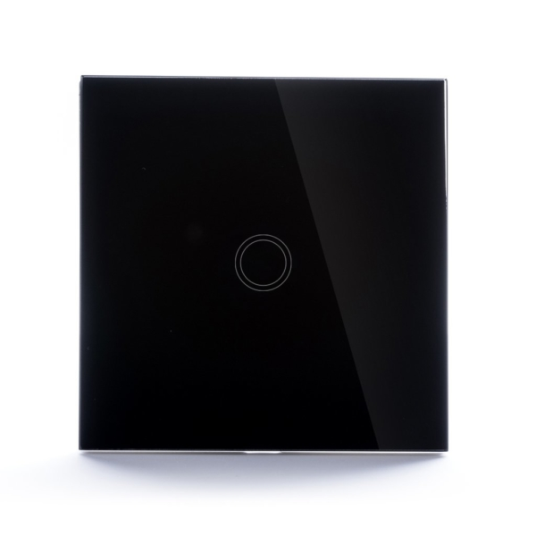Intrerupator Wireless RF cu touch, panou tactil de sticla si telecomanda tip panou 12