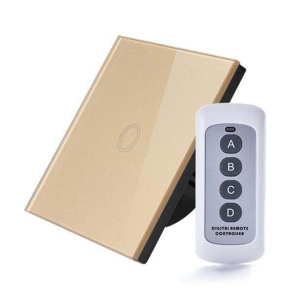 Intrerupator RF cu touch, panou de sticla si telecomanda 3