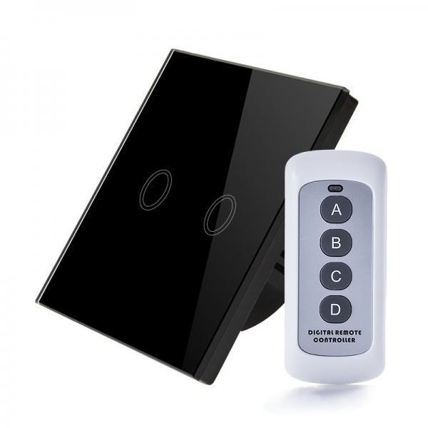 Intrerupator RF cu touch, panou de sticla si telecomanda 5