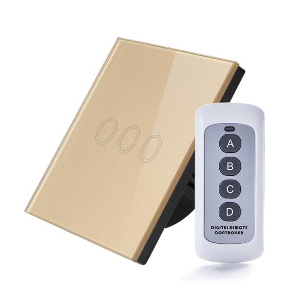 Intrerupator RF cu touch, panou de sticla si telecomanda 9