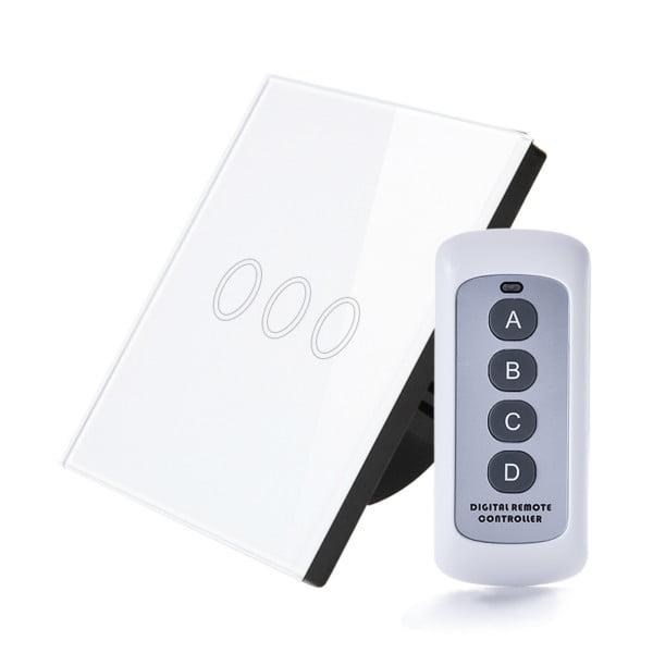 Intrerupator RF cu touch, panou de sticla si telecomanda 7