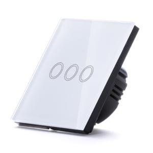 Intrerupator inteligent triplu cu touch, WiFi si panou tactil din sticla 9