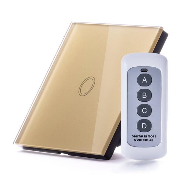 Intrerupator RF simplu cu touch, panou de sticla si telecomanda 7