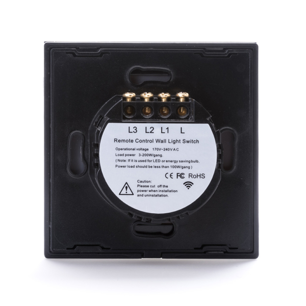 Intrerupator Wireless RF cu touch, panou tactil de sticla si telecomanda tip panou 14