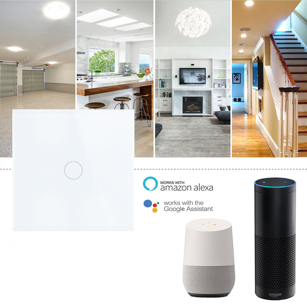 Intrerupator inteligent cu touch, Wi-Fi si panou tactil din sticla Smart Home 23