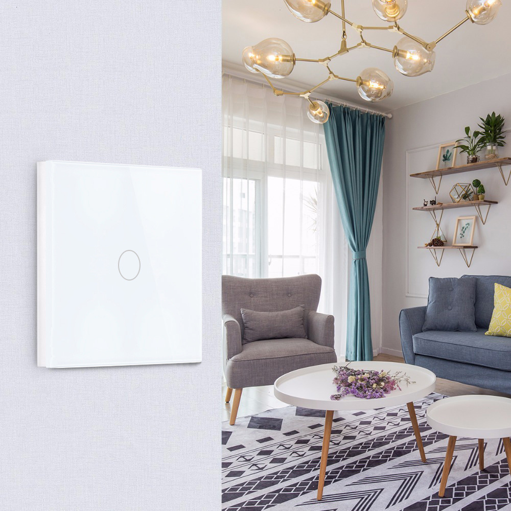 Intrerupator inteligent cu touch, Wi-Fi si panou tactil din sticla Smart Home 28