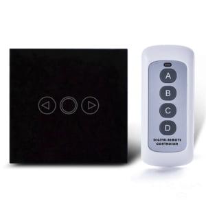 Intrerupator touch RF cu variator, panou de sticla tactil si telecomanda 1