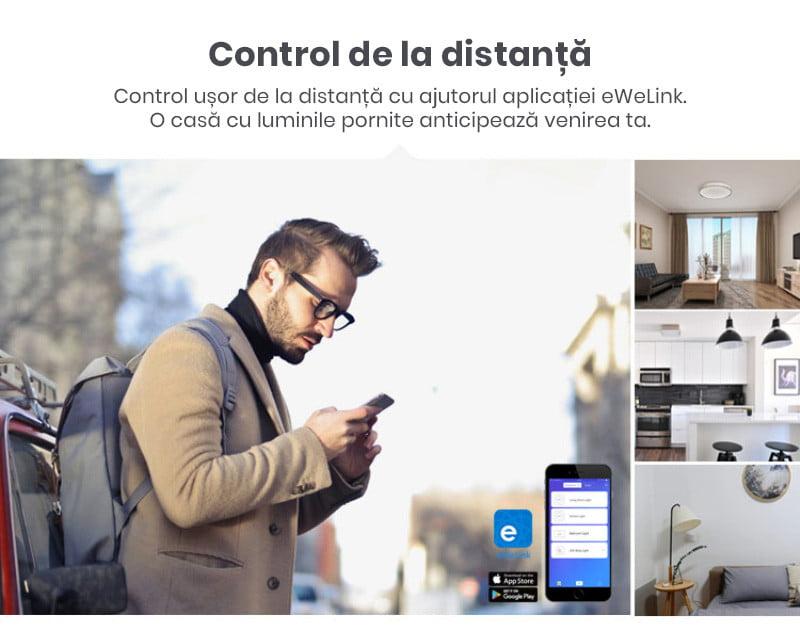 Releu inteligent cu un canal, Wi-Fi + RF, RFR3, Sonoff 14