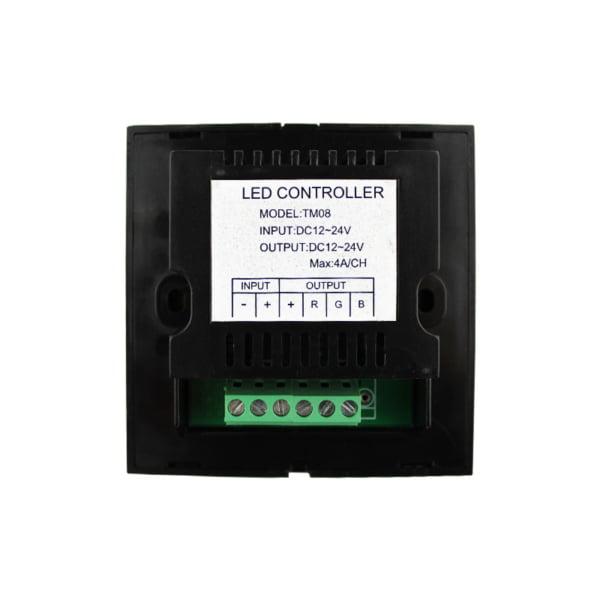 Controler Touch RGB pentru banda LED, de perete, cu panou de sticla tactil, Alb 3