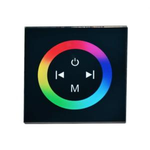 Controler Touch RGB pentru banda LED, de perete, cu panou de sticla tactil, Negru 19