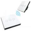Intrerupator Wireless RF cu touch, panou tactil de sticla si telecomanda tip panou, Sesoo 10