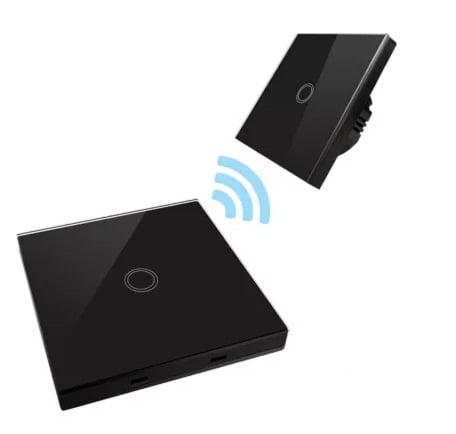 Intrerupator Wireless RF cu touch, panou tactil de sticla si telecomanda tip panou 10