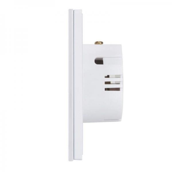Intrerupator touch wireless RF cu panou tactil din sticla si telecomanda, Sesoo 8