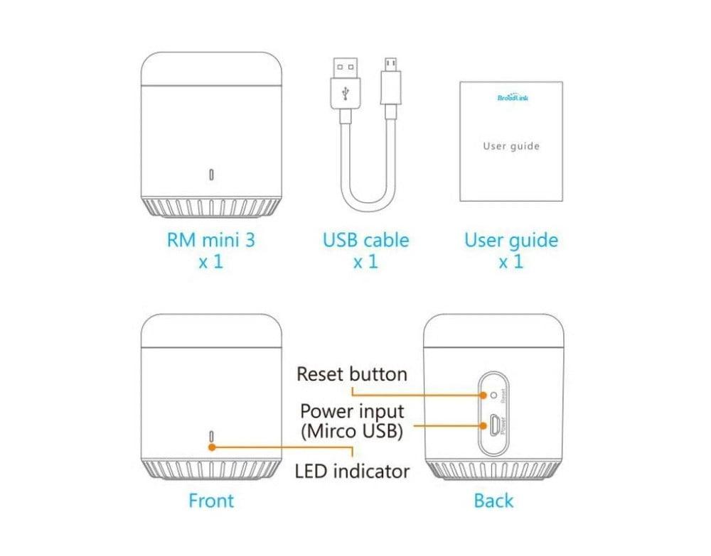 Telecomanda inteligenta Broadlink RM Mini 3, IR, Wi-Fi, 4G 14