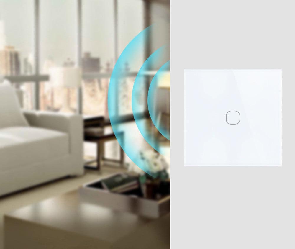 Intrerupator inteligent cu touch, WiFi si panou tactil din sticla, Sesoo 22