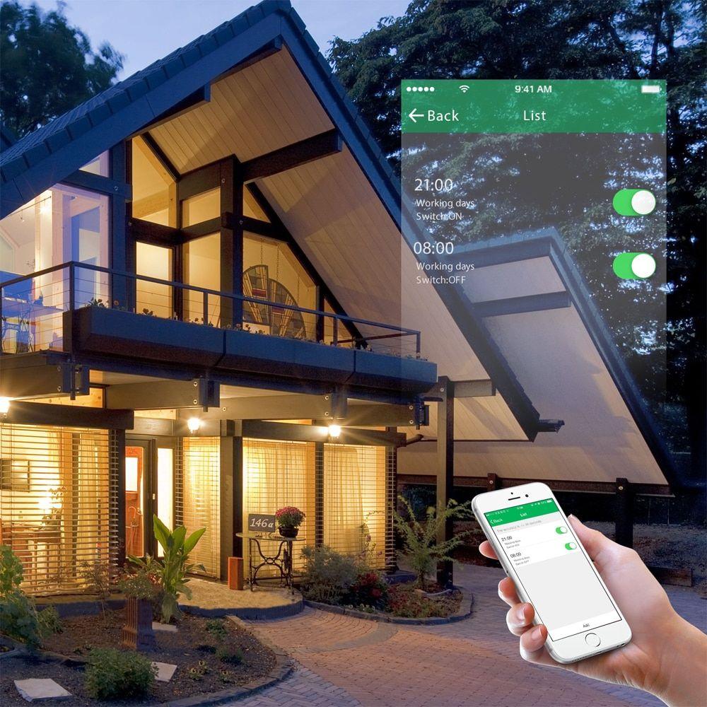Intrerupator inteligent cu touch, WiFi si panou tactil din sticla, Sesoo 24