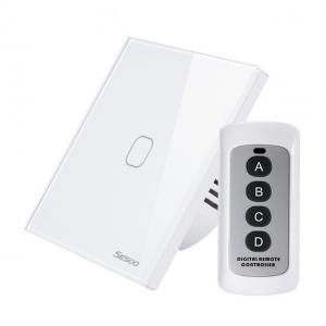 Intrerupator touch simplu RF cu panou tactil din sticla si telecomanda, Sesoo 4