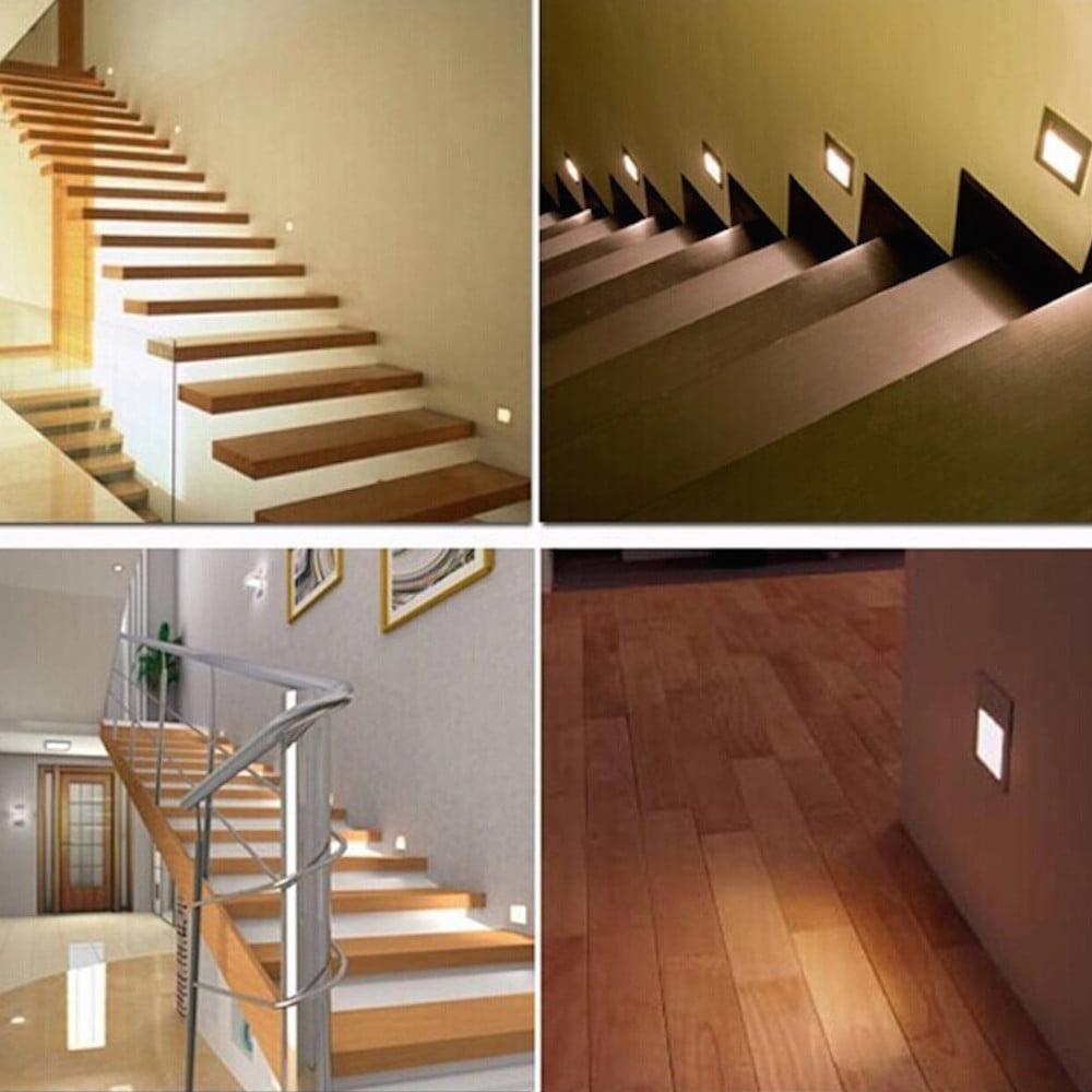Lampa podea LED completa, cu rama inclusa, lumina calda, 1W, Smart Home 11
