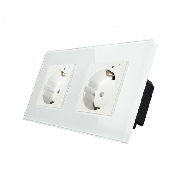 Priza Schuko dubla cu buton pornire/oprire si indicator LED 1