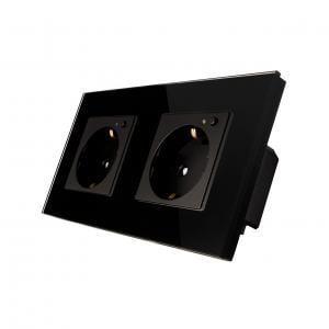 Priza Schuko dubla cu buton pornire/oprire si indicator LED 14