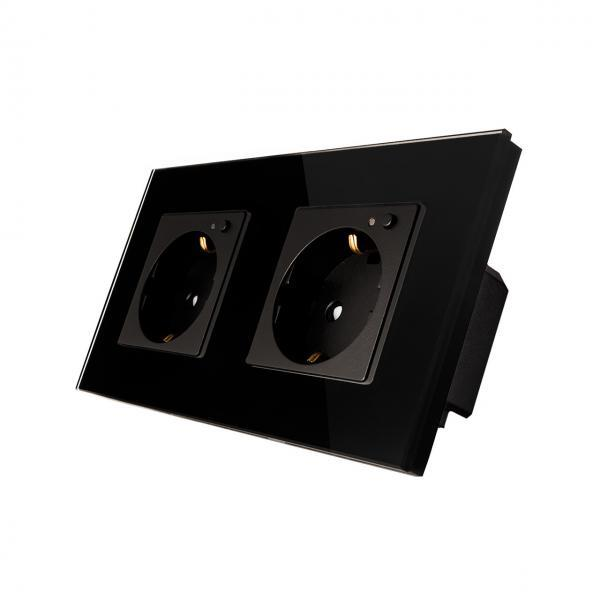 Priza Schuko dubla cu buton pornire/oprire si indicator LED 19