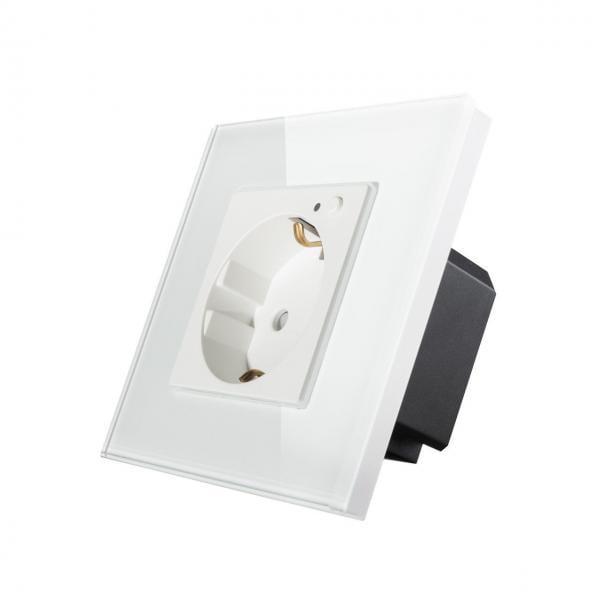 Priza Wi-Fi Schuko, cu rama din sticla, Smart Home 23