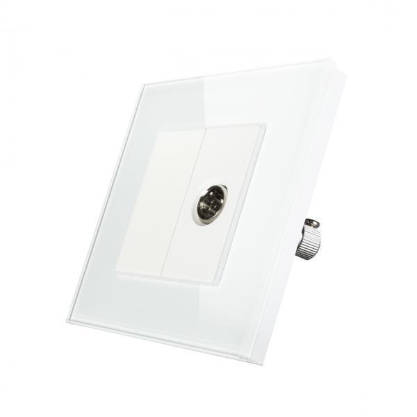 Priza TV simpla, cu rama din sticla, Smart Home 1