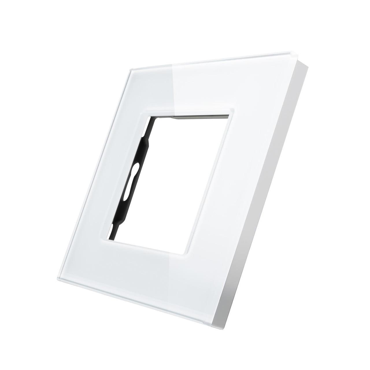 Rama priza simpla din sticla, 2 module, Smart Home