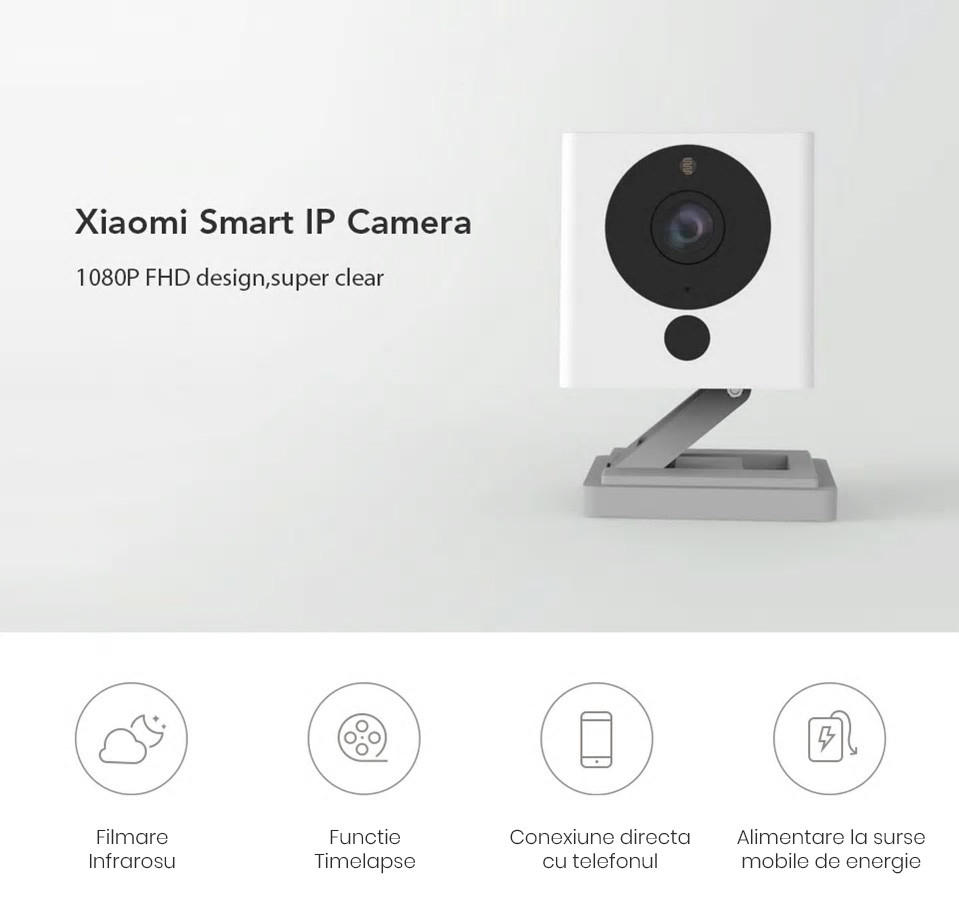 Camera Full HD inteligenta Xiaomi Xiaofang, 1080p, Wi-Fi 20
