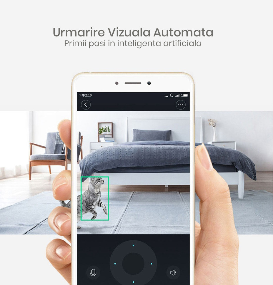 Camera Full HD inteligenta Xiaomi Dafang, 1080p, rotire 360°, Wi-Fi 14