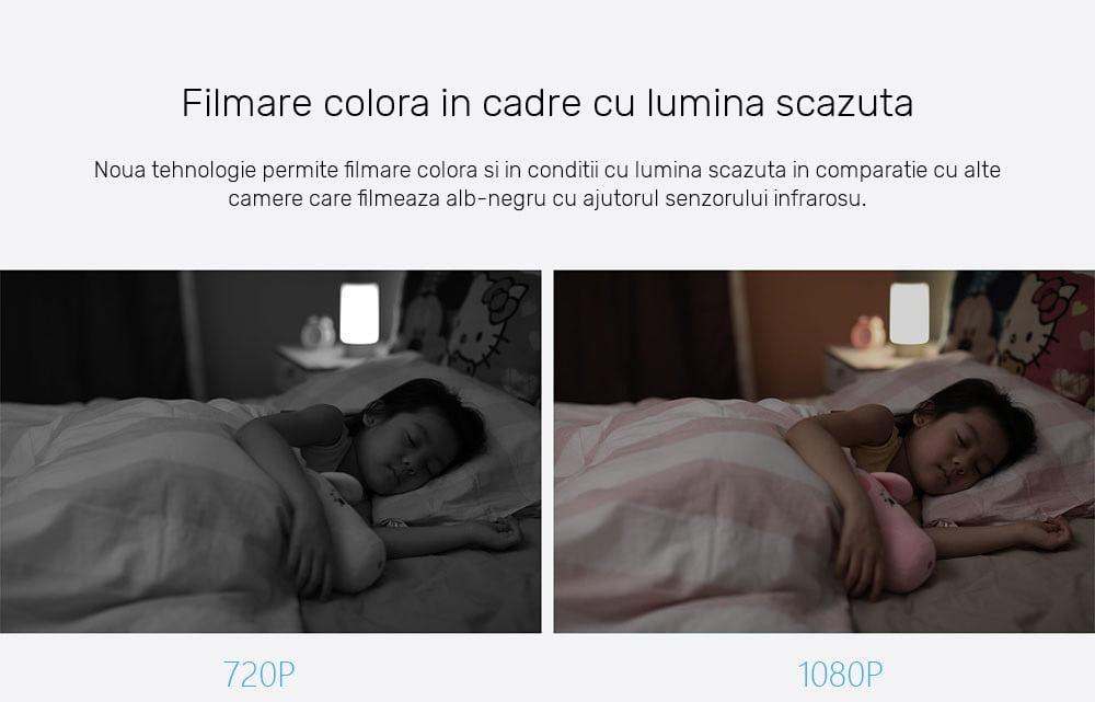 Camera Full HD inteligenta Xiaomi PTZ, 1080p, rotire 360°, Wi-Fi 16