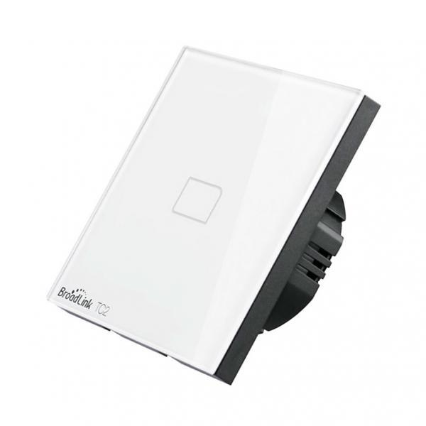 Intrerupator touch wireless Broadlink TC2, cu panou tactil din sticla 27