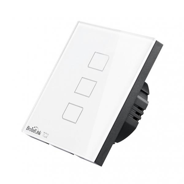 Intrerupator touch wireless Broadlink TC2, cu panou tactil din sticla 3
