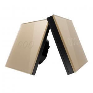 Intrerupator triplu RF cu touch, tip cap scara, panou de sticla si telecomanda tip panou 12