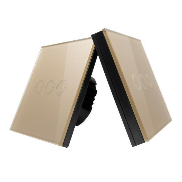 Intrerupator Wireless RF cu touch, panou tactil de sticla si telecomanda tip panou 8