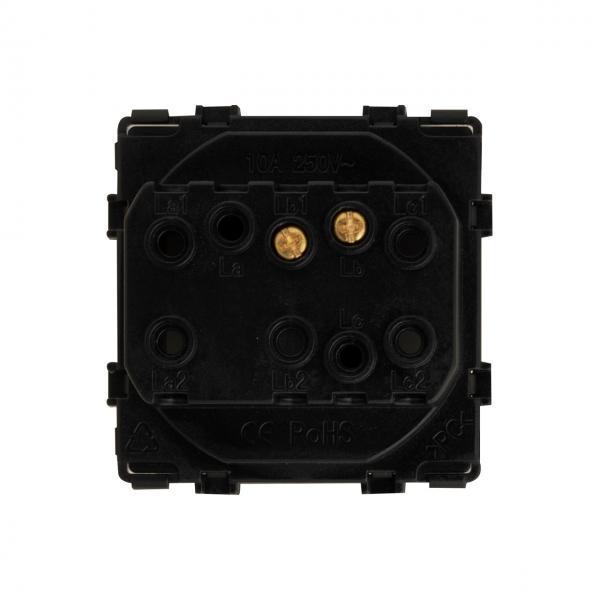 Modul intrerupator sonerie, mecanic, 2 module, Smart Home 4