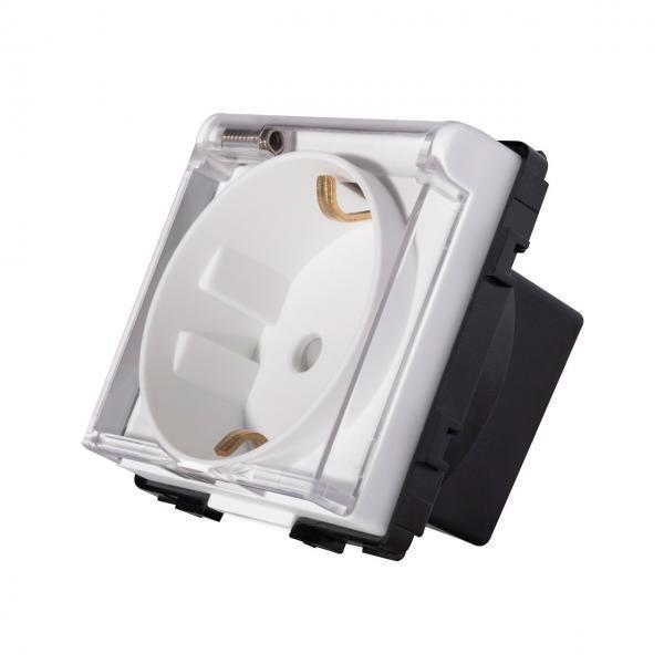 Modul priza schuko, capac protectie apa, 250V, 16A, Smart Home 11