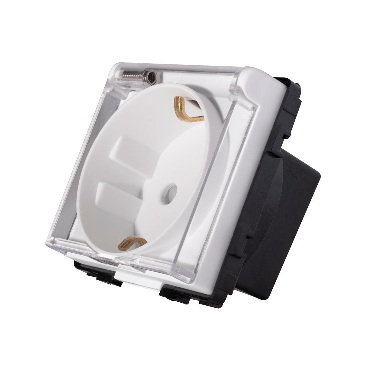Modul priza schuko, capac protectie apa, 250V, 16A, Smart Home