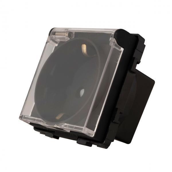 Priza schuko, capac protectie apa, 250V, 16A 3