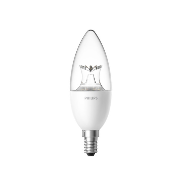 Bec inteligent LED tip lumanare, Philips Zhirui, E14, transparent 14