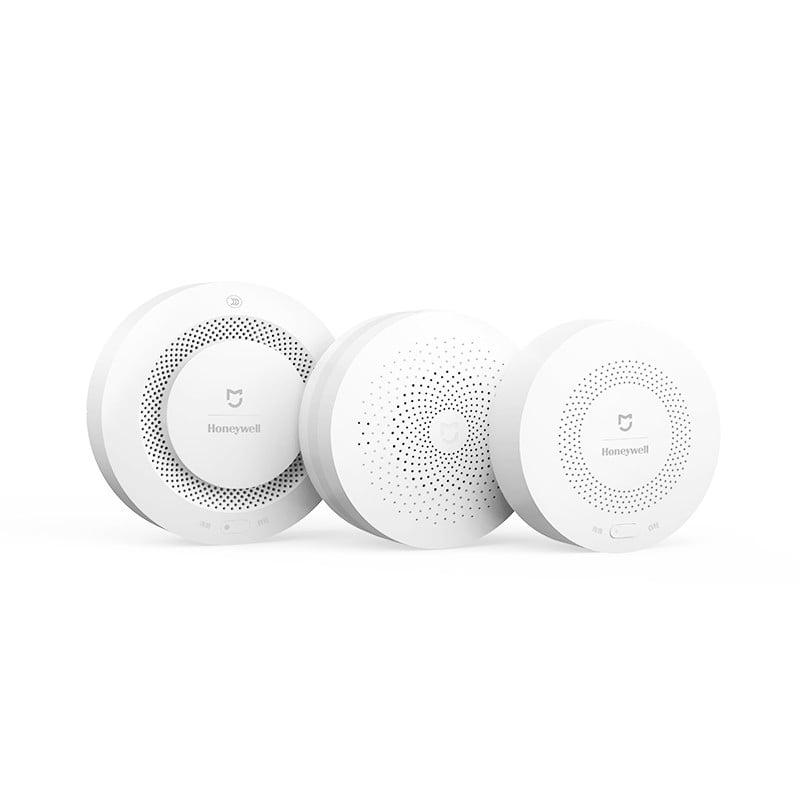 Kit alarma inteligent pentru bucatarie Xiaomi, Hub central + senzor gaz + senzor fum/flacara
