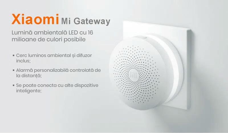 Kit alarma inteligent pentru bucatarie Xiaomi, Hub central + senzor gaz + senzor fum/flacara 12