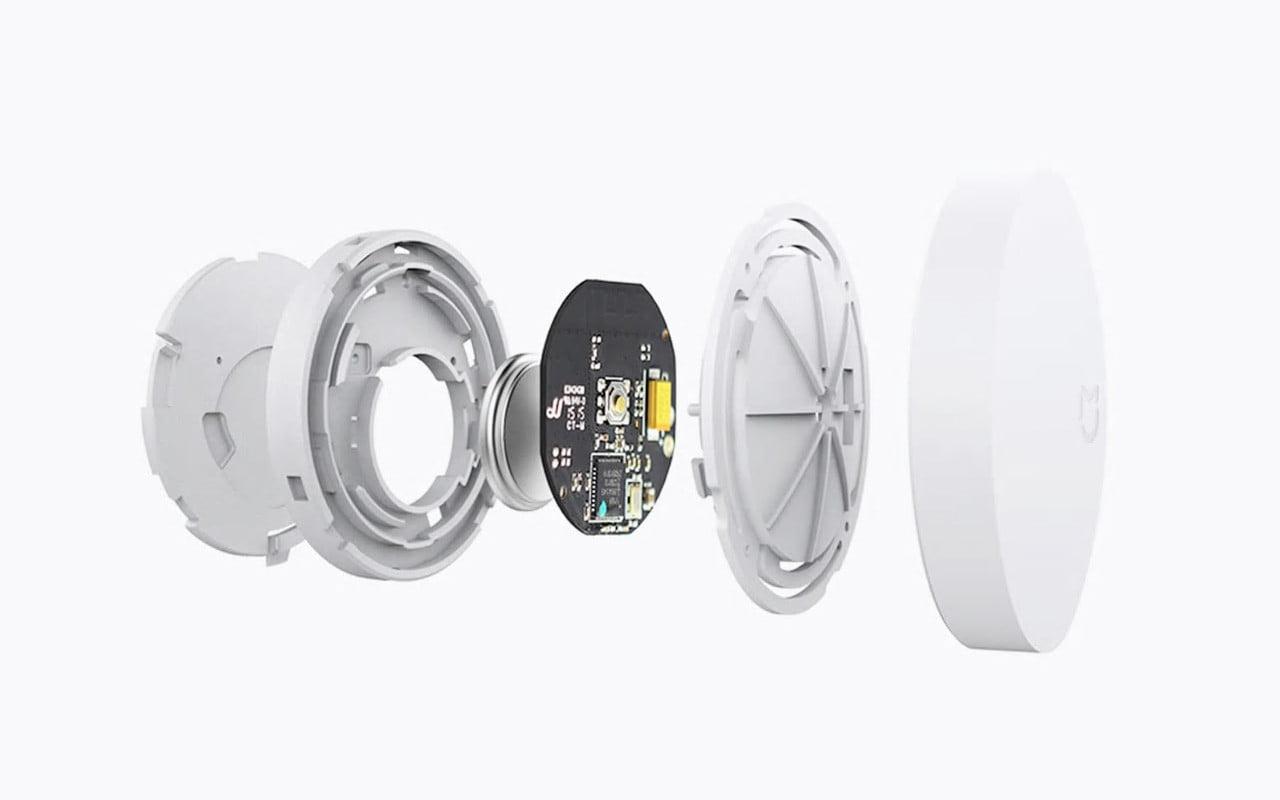 Kit alarma inteligent Xiaomi, senzor de miscare/prezenta + senzor usa/fereastra + buton wireless + hub central 16