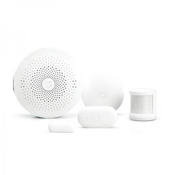 Kit alarma inteligent Xiaomi, senzor de miscare/prezenta + senzor usa/fereastra + buton wireless + hub central 9