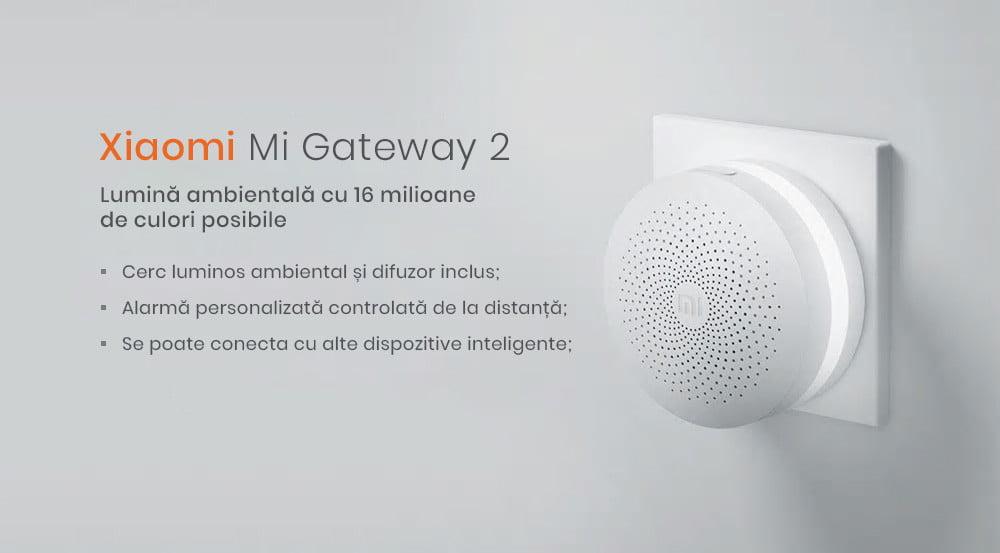 Kit alarma inteligent Xiaomi, senzor de miscare/prezenta + senzor usa/fereastra + buton wireless + hub central 13