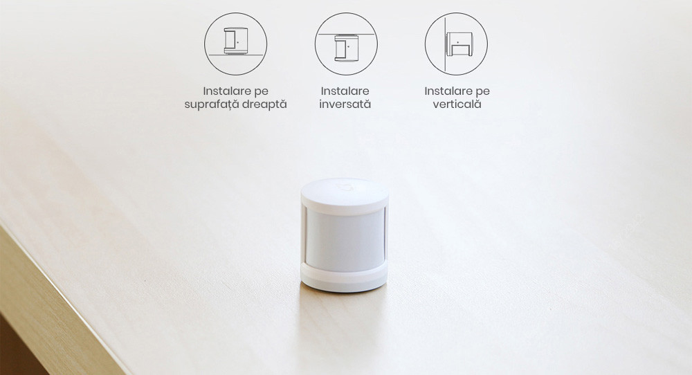 Kit alarma inteligent Xiaomi, senzor de miscare/prezenta + senzor usa/fereastra + buton wireless + hub central 20