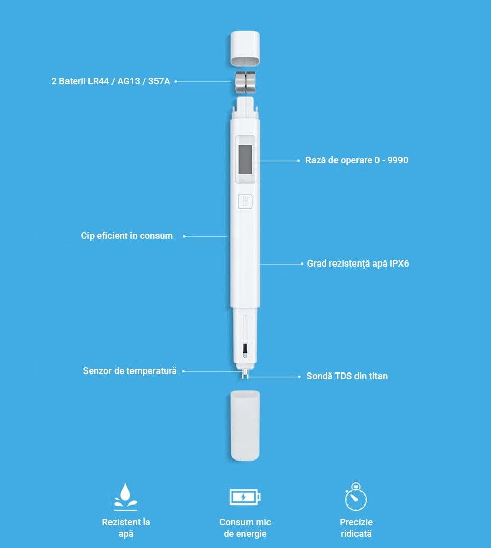 Tester puritate apa TDS, Xiaomi 10