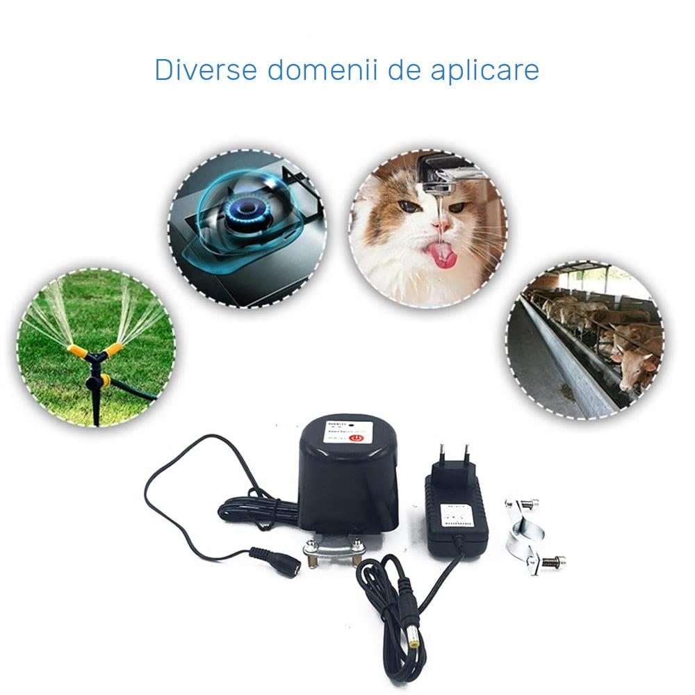 Electrovalva inteligenta pentru apa sau gaz, Wi-Fi, control din aplicatie 13