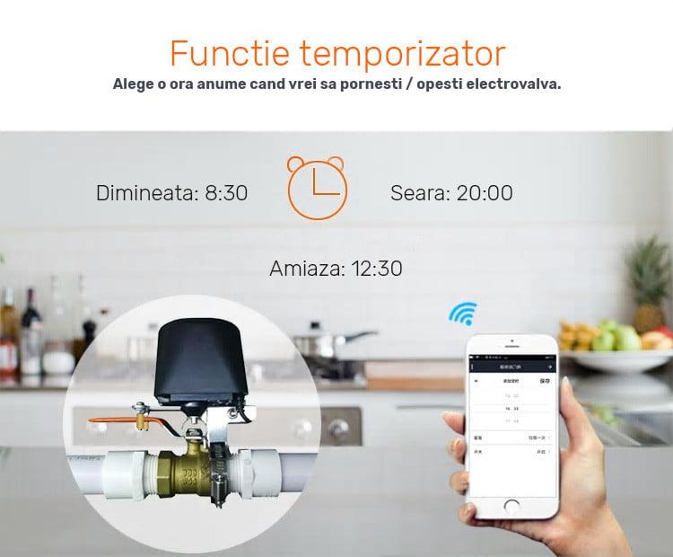 Electrovalva inteligenta pentru apa sau gaz, Wi-Fi, control din aplicatie 14