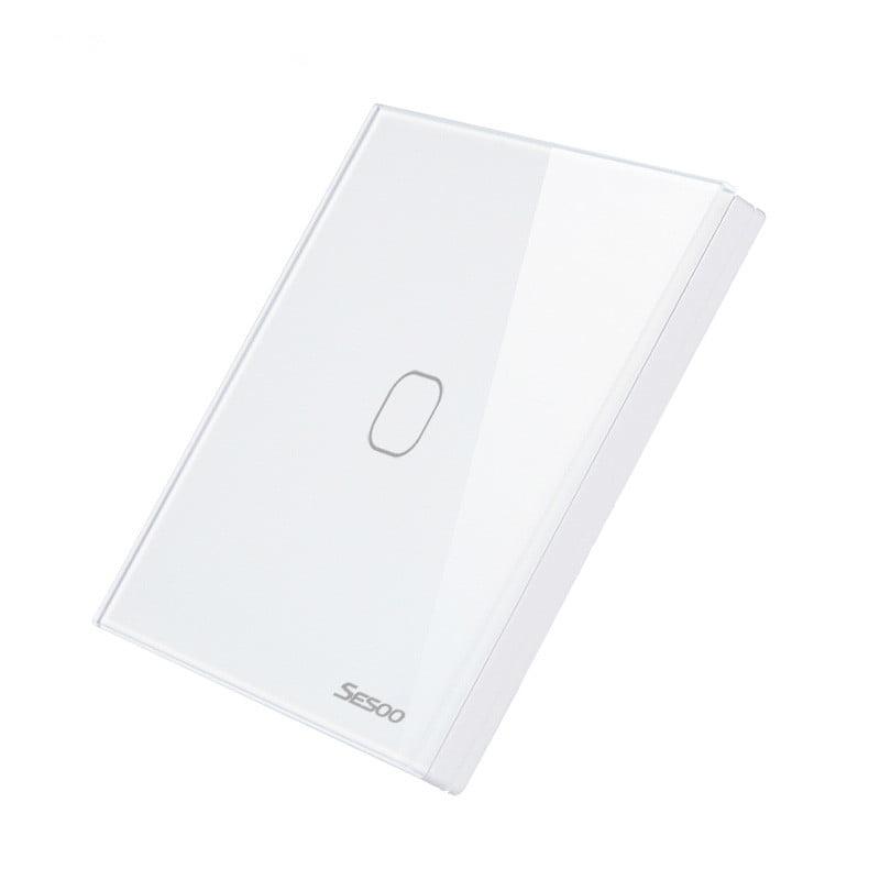 Telecomanda wireless RF tip panou, din sticla, buton tactil, Sesoo Seria 2